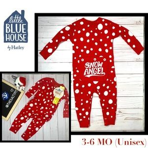 Just In! L. Blue House Snow Ball Union Suit, 3-6MO